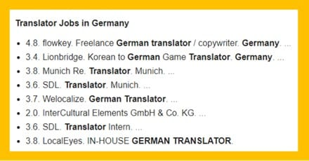 Jobs as a translator in Germany