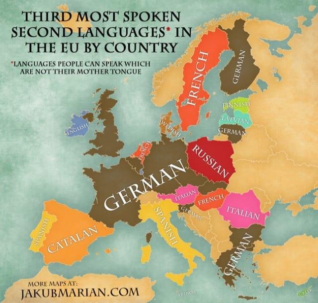 Third most spoken language in EU